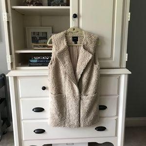 Forever21 Blush Teddy Longline Vest